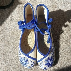 New Without Tag Handmade fabric shoes
